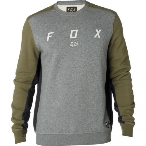 FOX HARKEN CREW FLEECE FAT GRN